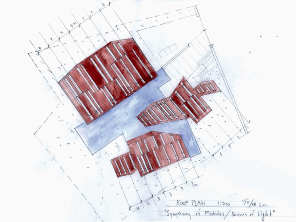 Daeyang Gallery and House, by Steven Holl10 roof plan