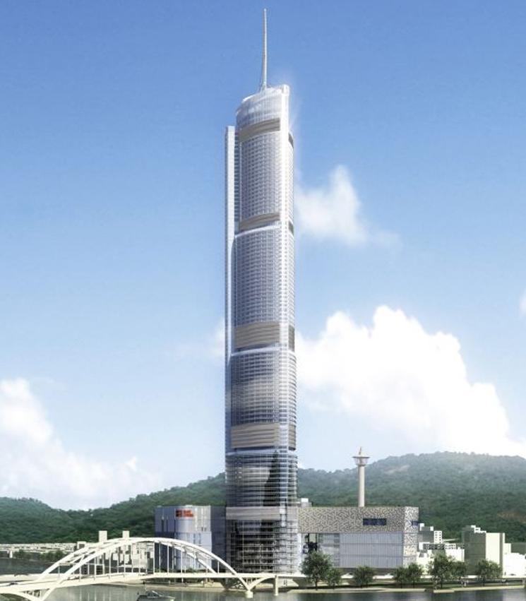 Небоскреб busan lotte world tower достроят в