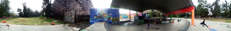Metro Puebla, skatepark by Anonima