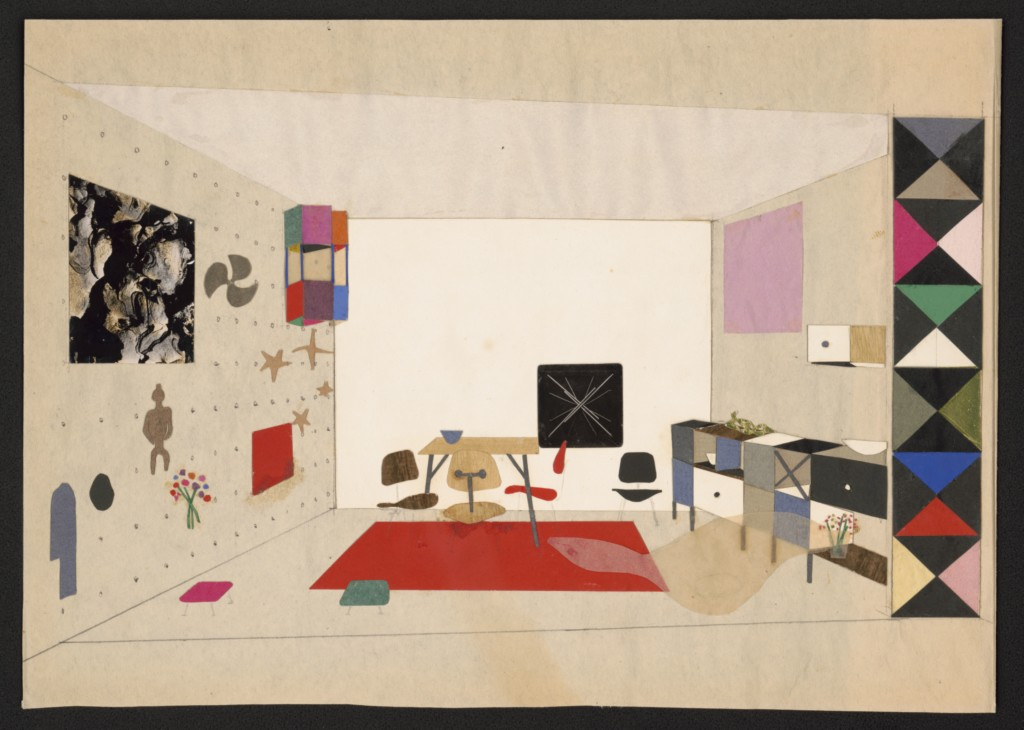 17-the-world-of-charles-and-ray-eames-collage-of-room-display-for-an-exhibition-for-modern-living-1949-c2a9-eames-office-llc