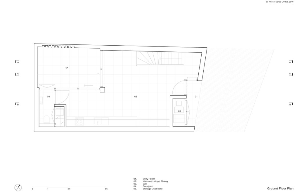 Mews House_Russell Jones_04 Ground Floor Plan