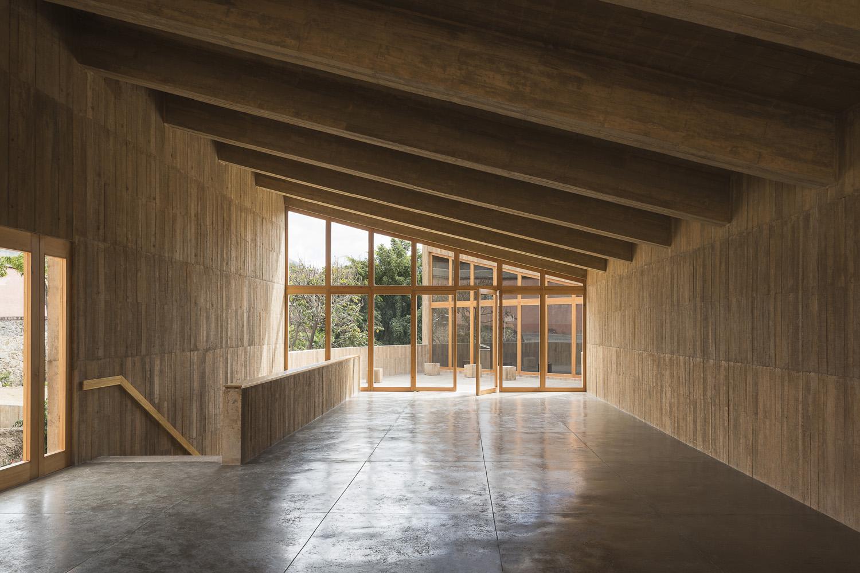 Interior del centro cultural en Oaxaca