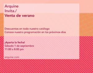 Venta de verano 2018 @ Arquine   Ciudad de México   Ciudad de México   México